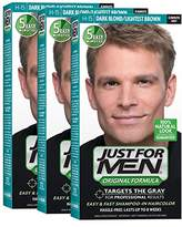 Just For Men Original Formula Men's Hair Color, Dark Blond Lightest Brown (Pack of 3)