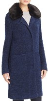 Basler Faux Fur Collar Bouclé Coat