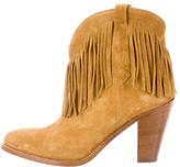 Saint Laurent NewWestern Fringe Ankle Boots