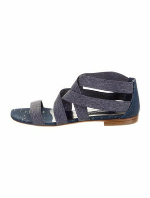 Manolo Blahnik Gladiator Sandals Blue