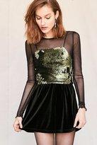 Urban Renewal Remade Velvet Mini Skirt