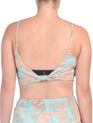 Tropical Print Crop Top Cover-up