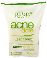 Alba Acnedote Clean 'n Treat Daily Cleansing Towelettes 30 Pc Skincare