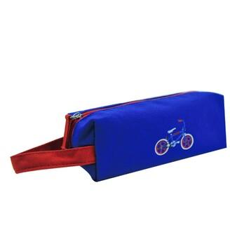 Beacon Craft Canvas Pencil Pouch - Dark Blue Bike