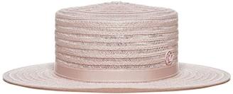 Maison Michel Kiki Straw Fedora Hat