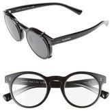 Valentino Garavani Women's Valentino 47Mm Round Sunglasses - Black/ Black Swarovski