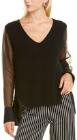 Thumbnail for your product : Piazza Sempione Silk-Trim Top