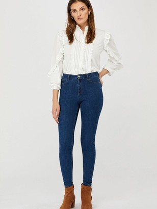 Monsoon Iris Skinny Organic Cotton Denim Jeans - Blue