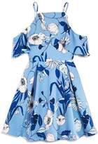 Bardot Junior Girls' Cold-Shoulder Floral Print Dress