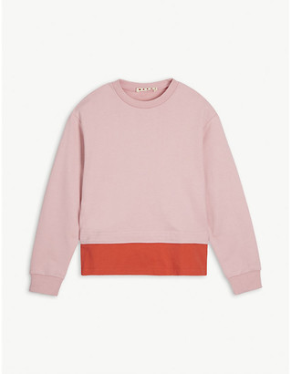 Marni Cotton colour-block sweatshirt 4-14 years