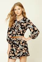 Forever 21 FOREVER 21+ Pleated Floral Print Dress