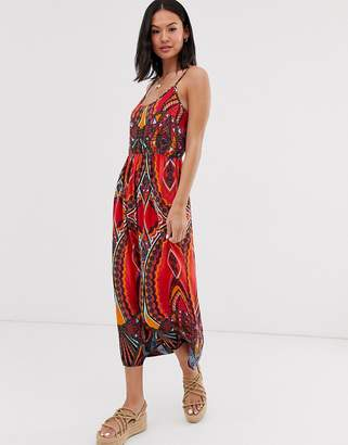 Pieces mixed abstract maxi dress-Multi