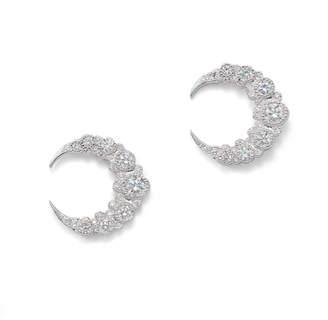 Colette Jewelry Baby Moon Diamond Stud Earrings
