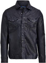 Ralph Lauren Leather Western Overshirt