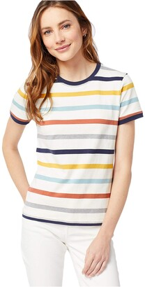 Pendleton Women's Deschutes Short Stripe Ringer Tee