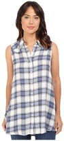Brigitte Bailey Helene Plaid Sleeveless Top