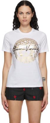 Versace White Medusa Head Gianni Logo T-Shirt