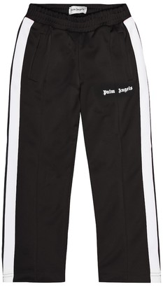 Palm Angels Kids Logo printed track pants