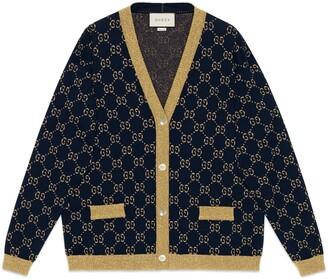 Gucci GG cotton lame cardigan