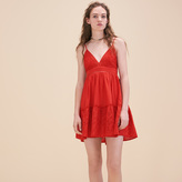 Maje Embroidered dress with narrow straps
