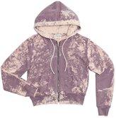 Cotton Citizen Women's Milan Crop Zip Hoodie - Violet Dust