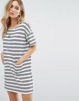 MANGO Stripe And Pocket Detail Jersey Dress