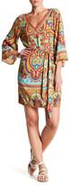 Hale Bob Belted V-Neck Dress