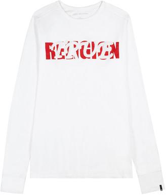 True Religion White logo cotton top