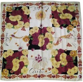 Cartier Red Silk Silk handkerchief
