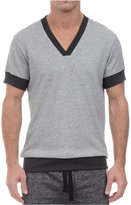2xist Men's V-Neck Short-Sleeve Sweatshirt
