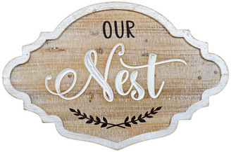 """American Mercantile Wood Sign """"Nest"""""""
