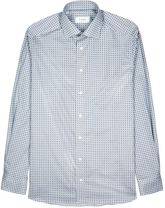 Eton Printed contemporary cotton shirt