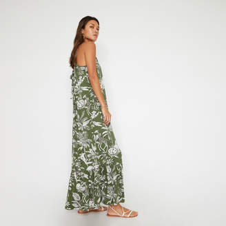 Warehouse JUNGLE PRINT HALTER MAXI DRESS