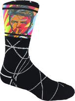 MOXY Socks Black with Pop Art David Bowie Premium Dye-Sublimated Crew Socks