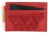 Marc Jacobs Women's Heart Leather Card Case - Red