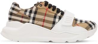 Burberry 30mm Regis Check Cotton Canvas Sneakers