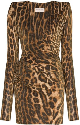 Alexandre Vauthier Leopard Print Bodycon Mini Dress