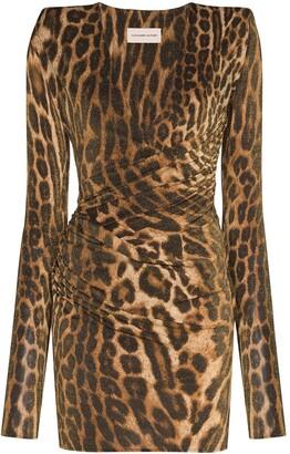 Alexandre Vauthier Leopard Print Bodycon Mini Dress