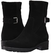 La Canadienne Camilla (Black Suede) Women's Zip Boots