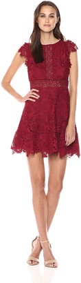 BB Dakota Women's Calvin Scalloped Lace Dress