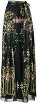 Alberta Ferretti floral print long wrap skirt