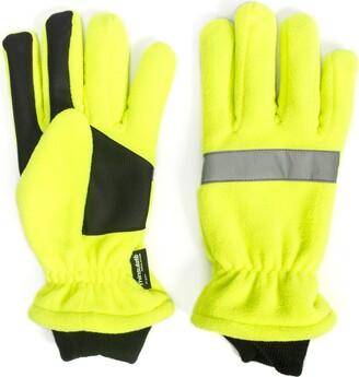 Muk Luks Men's High Vis Waterproof Fleece Gloves