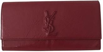 Saint Laurent Belle de Jour Burgundy Patent leather Clutch bags