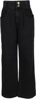 Alessandra Rich High Waisted Wide Leg Jeans