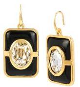 Diane von Furstenberg Holiday Color Rectangular Drop Earrings