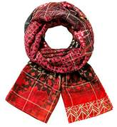 Desigual Women's Foulard_rectangle Boho Scarf,(Manufacturer Size: U)