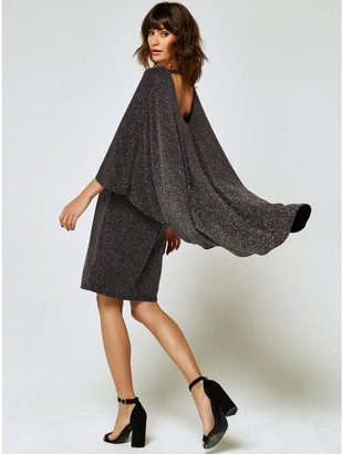 M&Co Glitter cape back dress