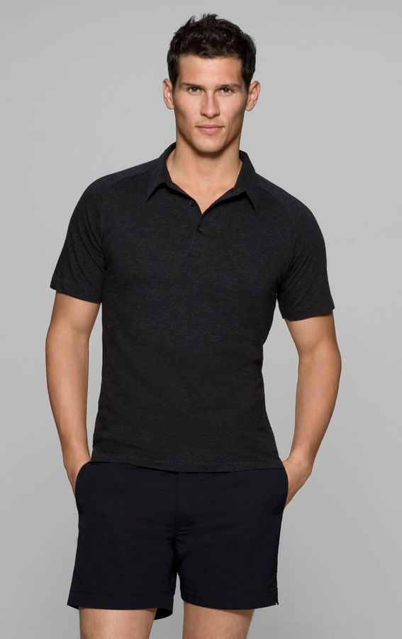 Theory ESKIL C Polo in Stay Stretch Cotton