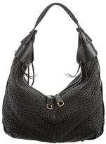 Salvatore Ferragamo Woven Leather Hobo