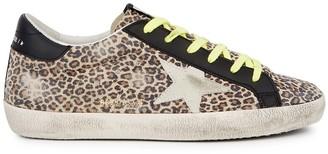 Golden Goose Superstar leopard-print suede sneakers